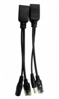 POE-002 пассивный комплект (инжектор + сплиттер) передачи питания по витой паре.