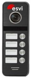 EVJ-BW8-4(b) вызывная панель на четыре абонента к видеодомофону, 600ТВЛ, цвет черный